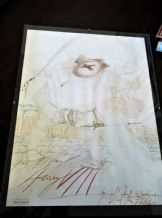 RARE ARTS COUNCIL HENRY VIII SHAKESPEARE AD POSTER RALPH STEADMAN BOARD + GLASS